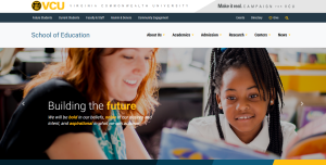 Home page of School of Education at Virginia Commonwealth University (VCU)