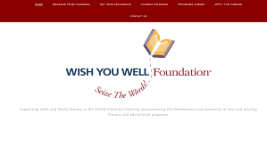 Home page of the Wish You Well Foundatiobn